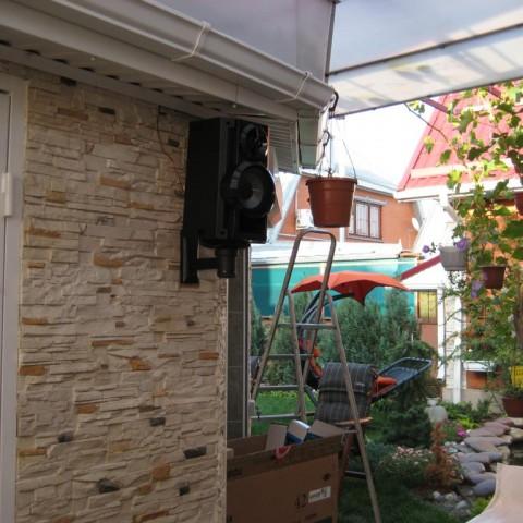 Частный дом, видеопроектор на улице, ст. Елизаветинская