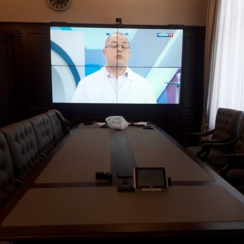 Монтаж видеостены в бюджетном учреждении