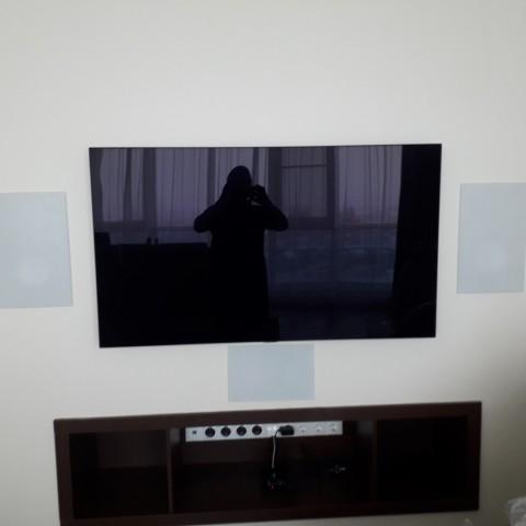 Встраиваемая акустика в гостиной, квартира в Краснодаре